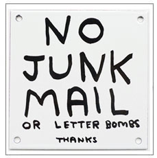 David Shrigley - No Junk Mail