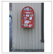 Picture Postcard Posted from Post Box Pictured (Reykjavik) by Jonathan Monk