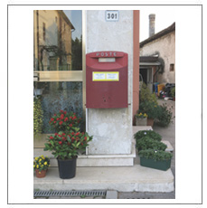 Picture Postcard Posted from Post Box Pictured (Selva del Montello) by Jonathan Monk
