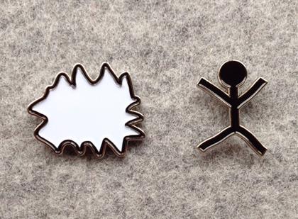 Enamel Pins by Masanao Hirayama