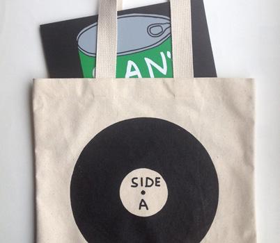 Side A/Side B record bag by David Shrigley