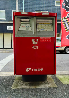 Picture Postcard Posted from Post Box Pictured By Jonathan Monk