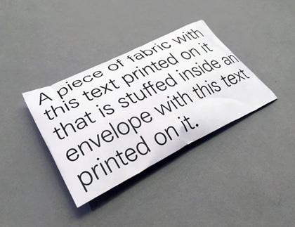 Stuffed Envelope by Micah Lexier